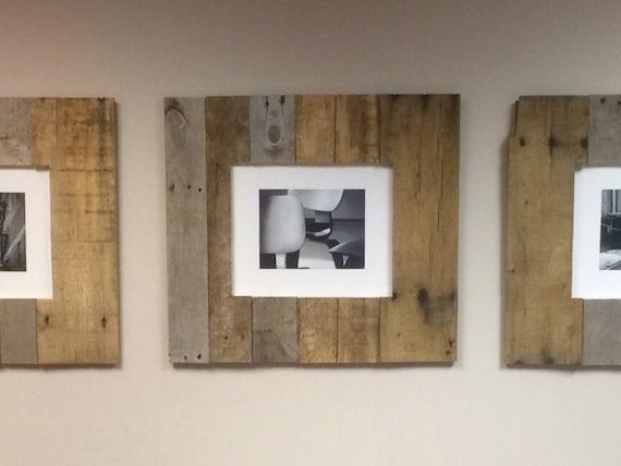 pallet picture frames wood frames reclaimed picture frames custom frames pallet picture