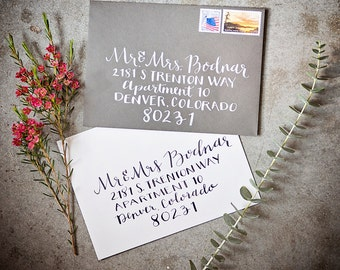 Custom Envelopes // Calligraphy Wedding Envelopes