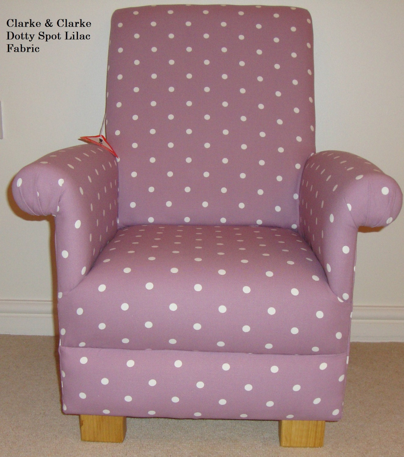 Pink Chair For Bedroom Clarke Clarke Dotty Spot Fabric Child Chair Lilac Blue Pink