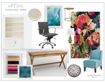 Home Office Interior Design, E-Decorating, E-Design, E-Designer, E-Decorator, Interior Design Service