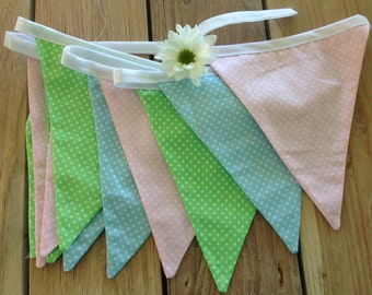 Pretty pastel Bunting- Just Dotty!