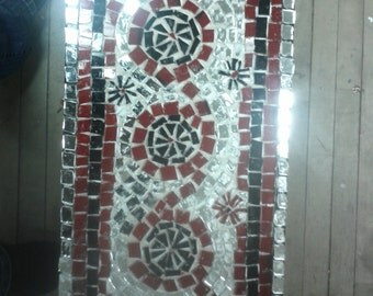 small glass mosaic  side table