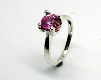 Sterling Silver Solitaire Ring,Sizes H-Z