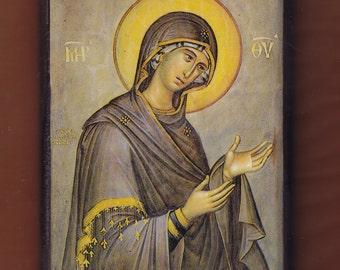 Virgin praying,  Christian Orthodox religious gift.Christian orthodox icon.FREE SHIPPING