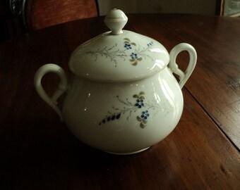 A large ceramic sugar bowl