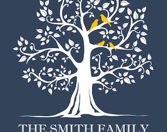 Custom Personalized Family Tree Art Digital Download
