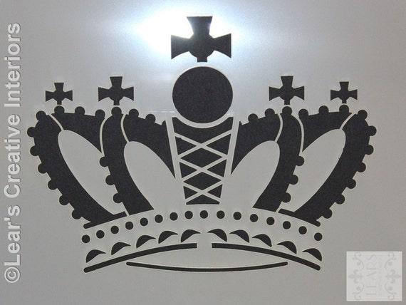 Royal Princess Crown Stencil Queen Elizabeth A5 Decal Wall Art