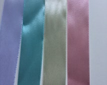 Ribbon 25mm Pastel Coloured High Quality 25mm Satin Ribbon / 1 inch Wide