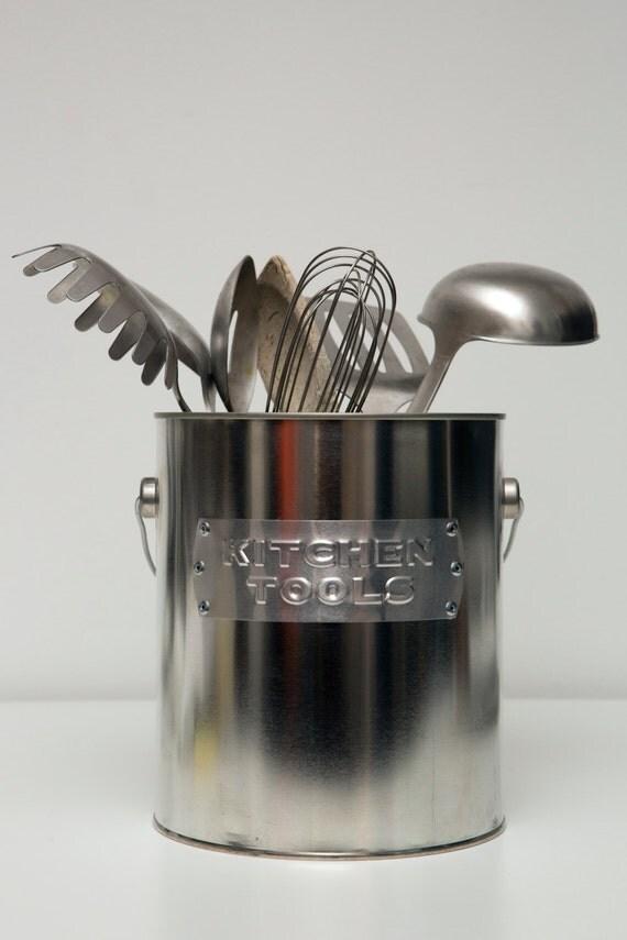 Kitchen tools utensil holder by pandkhardware on etsy - Unique kitchen utensil holder ...