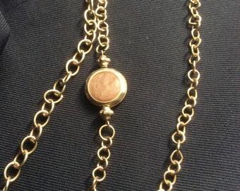 Vintage chain necklace, multi strand necklace