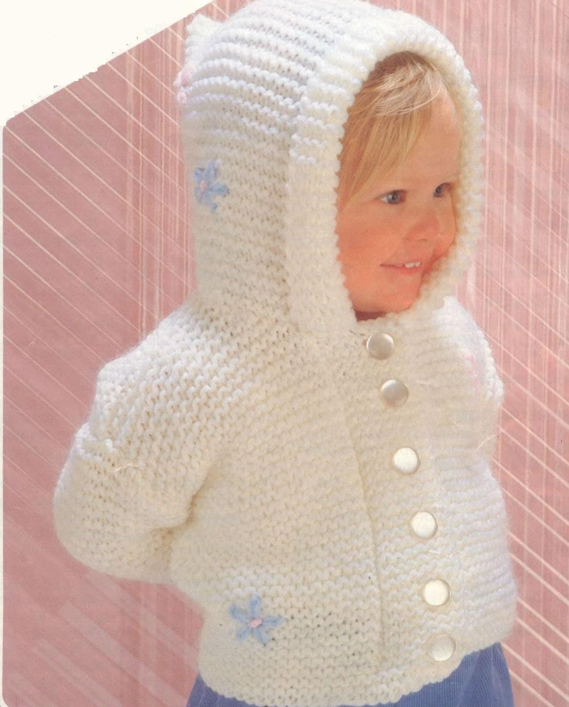 Knitting Pattern Baby Hooded Jacket : Knit Baby Hooded Jacket Vintage Knitting by GrannyPatternStore