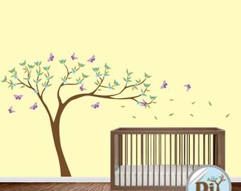 Baby Wall Decal - Nursery Vinyl Wall Decal - Kids Wall Sticker - Tree Decal - Nursery Decals - Children Tree Vinyl Decal -  424158