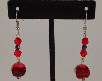 Red Dangles by Sparrow  Sku 31