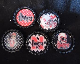 Nebraska Cornhusker Huskers magnets -set of 5
