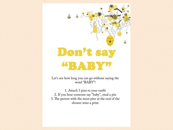 pin game diaper pin sign printable bee theme printable baby shower