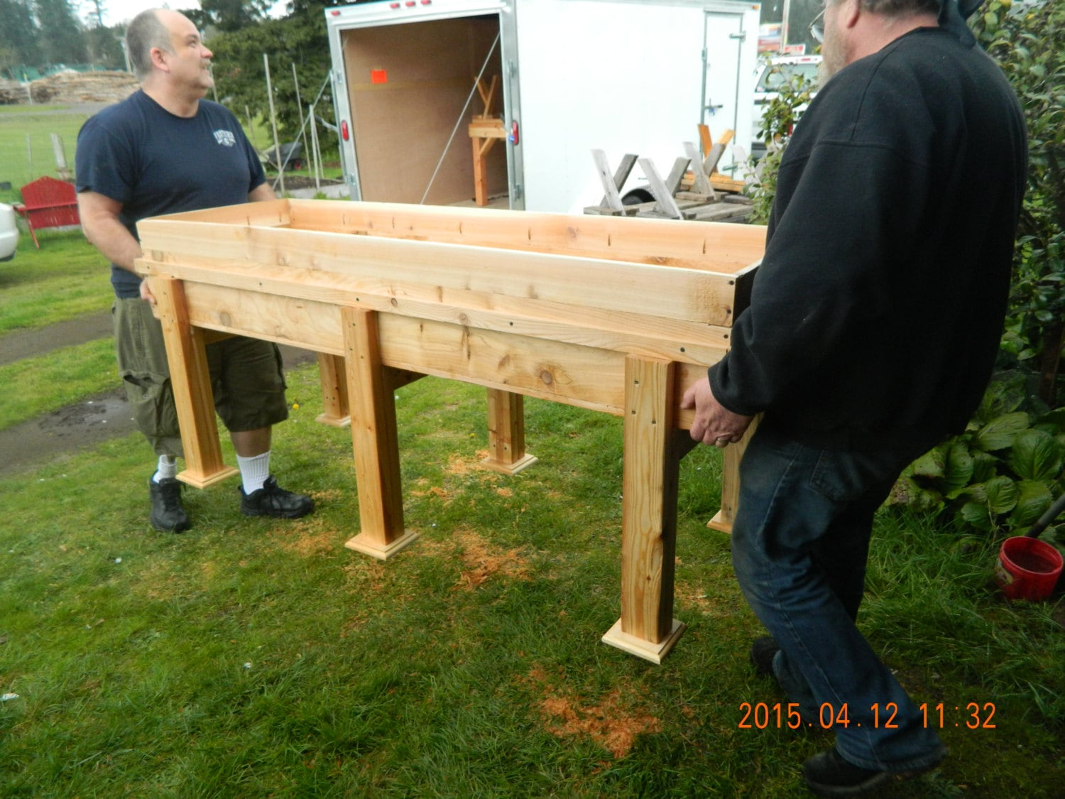 Stand Up Garden : Large wooden stand up garden bed this item by