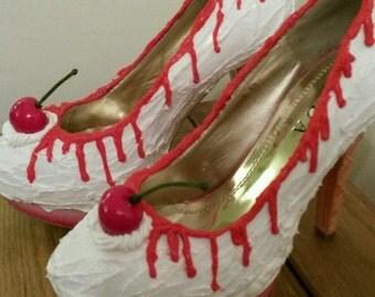 Ice cream customised shoes