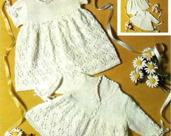 Baby lace dress and coat Knitting pattern PDF, lovely old pattern