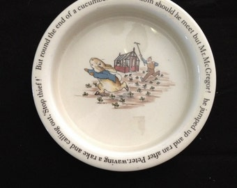 Wedgewood Plate With Peter Rabbit