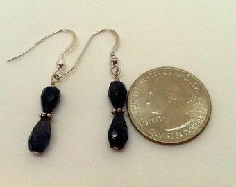 Iolite Crystals Drop Earrings