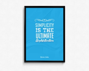 Graphic Design Custom Blue Typography Poster
