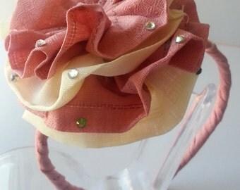 Handmade linen Hair Accessories / headbands /Girls Headbands/ Hair band/ Headwear/ Weddings Hair decor/ Hair Jewelry/Flower headbands /