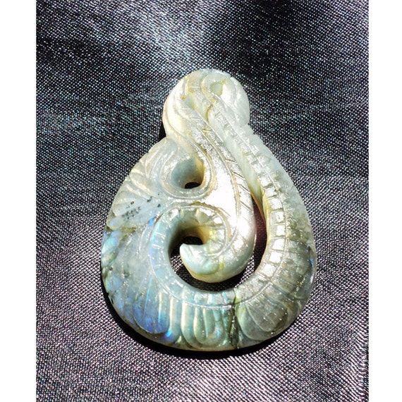 Hand carved labradorite filigree findings