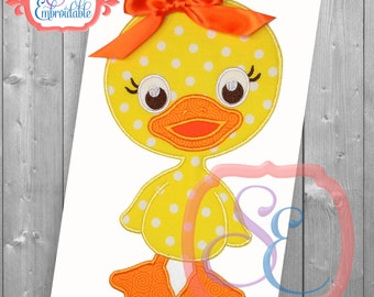 Lucky Duck Applique Design For Machine Embroidery INSTANT DOWNLOAD