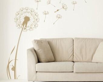 Flower Dandelion Vinyl Wall Art Sticker Mular Home Bedroom Decoration
