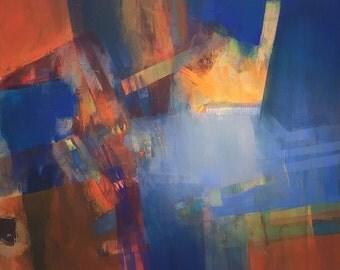 Original abstract acrylic painting, Large wall art canvas, Modern Art Abstract Painting, Acrylic painting on Canvas, Original art work