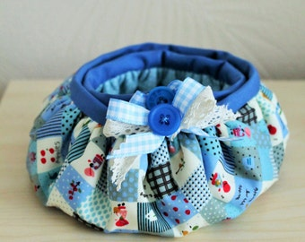 Two Fabric Bowls with Bow Detail