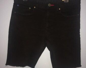 Black CCS Brand cut off Jean Shorts W32