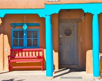 "Front Porch, Taos 8""x12"" Standout Print, White Edge"