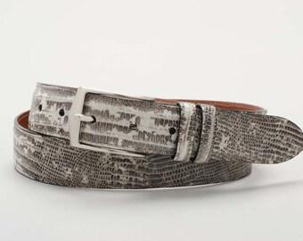Genuine, Authentic Handmade Lizard Belt