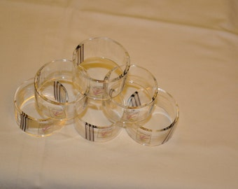 caithness glass napkin rings - new never used.