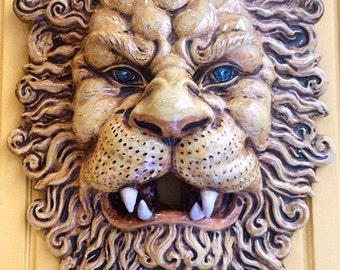 Italian ceramic lion mask