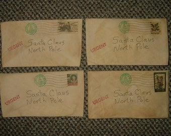 LETTERS TO SANTA~Primitive Ornies~Bowl Fillers~Set of 4!~Last Ones!