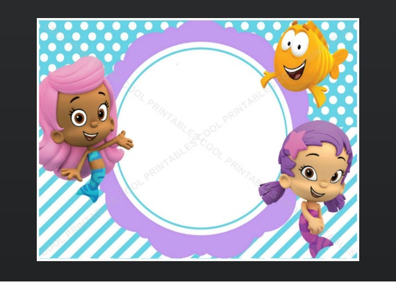 Bubble Guppies Birthday Invitations Template with good invitations design
