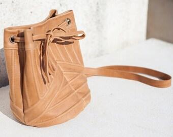 SALE!!! Bucket leather bag - LAIA BAG