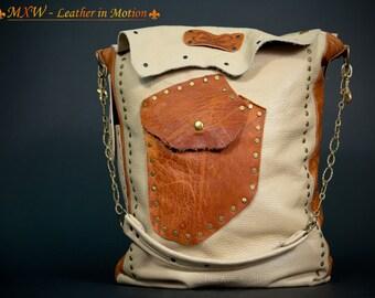 Large women's bag, genuine leather bag, elegant bag, shoulder bag, hand bag, business satchel