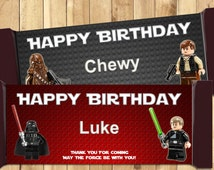 Lego Star Wars Candy Bar Wrappers - Download Customize Print - 4 Lego Star Wars Chocolate Bar Wrappers Frozen Chocolate Bar Wraps 1.5 oz