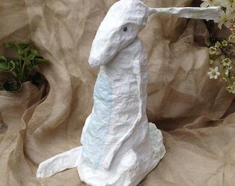 Harriet Hare, papier mâché, 1st of a series of 3 sculptures