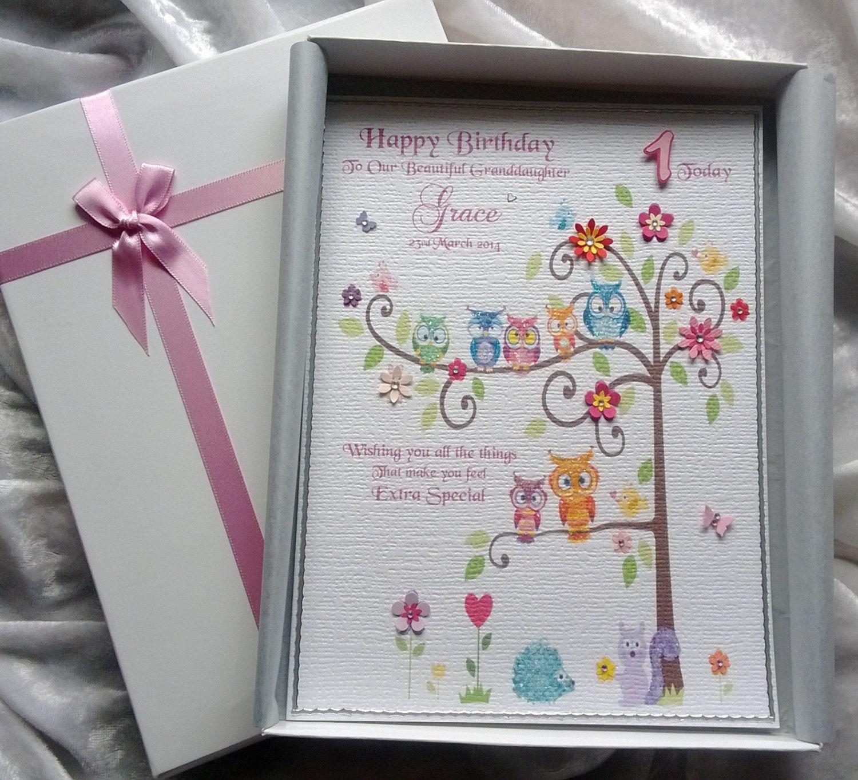 Baby's First Keepsake Birthday Card Personalised & Boxed 4