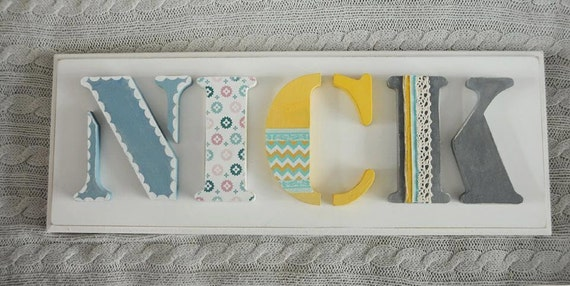 Items Similar To Nameboard, Hand Painted And Decorated
