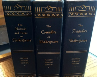 Shakespeare 1955 Comedies, Histories, Poems and Tragedies 3 Vol. Set Hardcover Illustrated