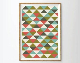 Mid century print poster, retro print poster, Geometric print posters, Abstract Prints Posters,