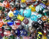 lampwork glass beads Supplies - Awesome  wholesale bumpy beads 1 Pounds SUPER DELUX lampwork beads mix  handmade
