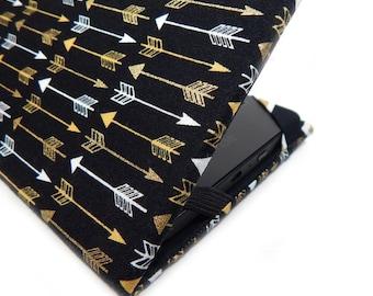 Kobo Touch Cover - Luxe Arrows - black white gold arrow print Kobo eReader case