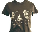 Brown Shirt Owl Shirt - UNISEX clothing - SMALL OWL T-shirt - Unisex Small - Unisex Tshirt Men Presents for Him