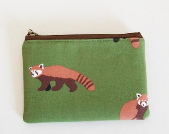 mini zipper pouch  - Lesser panda